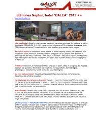 """Statiunea Neptun, hotel """"BALEA"""" 2013"""