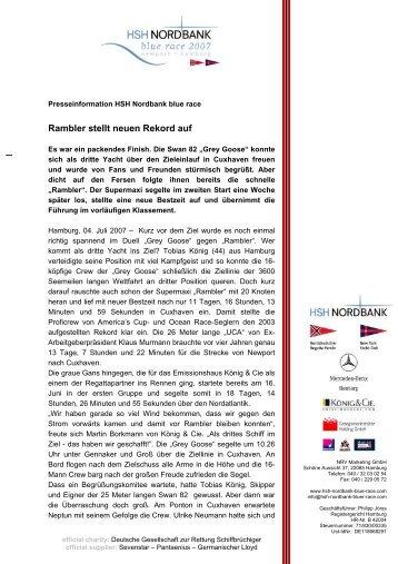 Rambler stellt neuen Rekord auf - Segeln mit Manfred Kerstan