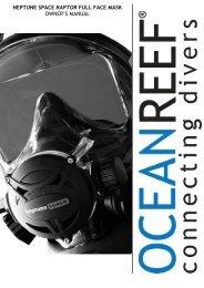 neptune space raptor full face mask owner's manual - Ocean Reef