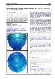 Blaue Schale mit den Pferden Neptuns, Rudolfova hut - Pressglas ...
