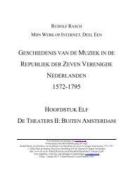 Hoofdstuk Elf: De Theaters II: Buiten Amsterdam