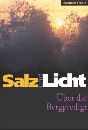 Salz und Licht: Über die Bergpredigt - Plough
