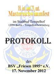 """BSV """"Friesen 1895"""" - Masters in Berlin"""