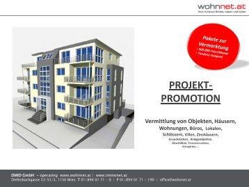 PROJEKT- PROMOTION Vermittlung von Objekten ... - Wohnnet.at
