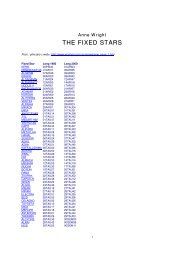 THE FIXED STARS - Astroweb