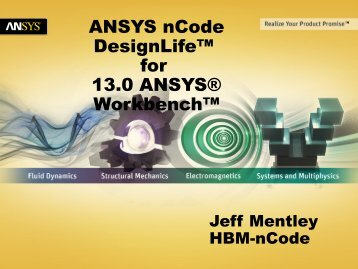 ANSYS nCode DesignLife™ for 13.0 ANSYS® Workbench™