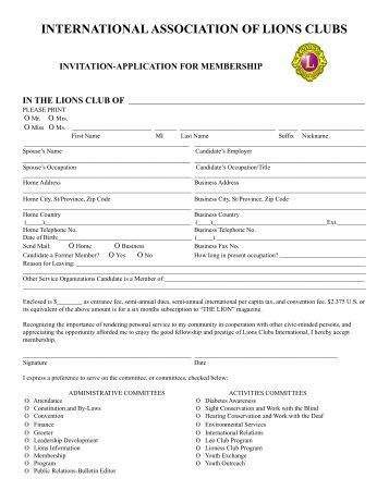 membership-application-lions-clubs-australia Lions Club Application Form on relay for life application form, library application form, business application form, choir application form, red cross application form, chamber of commerce application form, burger king application form, home application form, golf application form, basketball application form, church application form, boy scouts of america application form, masonic lodge application form, habitat for humanity application form, salvation army application form, post office application form, travel application form,