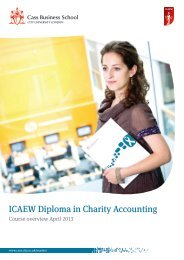 ICAEW Diploma in Charity Accounting - Cass Business School