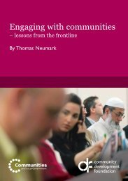 Engaging with communities - Community Development Foundation