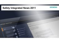 Safety Integrated News 2011