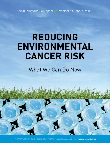 Reducing Environmental Cancer Risk - NCI Division of Extramural ...