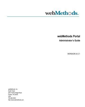 Portal Administrator's Guide - Software AG Documentation