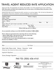 travel agent reduced rate application - Norwegian Cruise Line