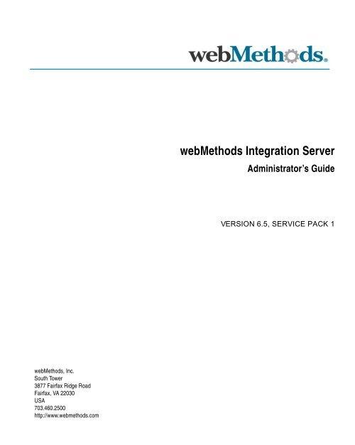 webMethods Integration Server Administrator's Guide
