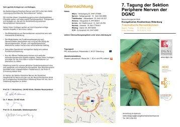 7. Tagung der Sektion Periphere Nerven der DGNC - Deutsche ...