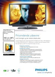 40PFL9705H/12 Philips LED-TV med Ambilight Spectra 3 og Perfect ...