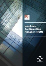 Nominum Configuration Manager (NCM)