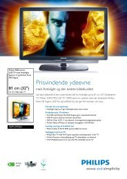 32PFL9705H/12 Philips LED-TV med Ambilight Spectra 3 og Perfect ...