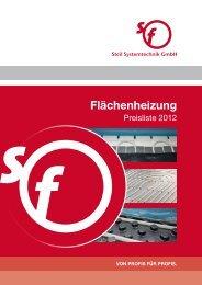 Bruttopreisliste Fussbodenheizung 2012 - Steil Systemtechnik GmbH