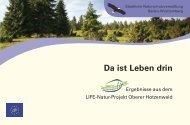 Projektergebnisse - Hotzenwald LIFE