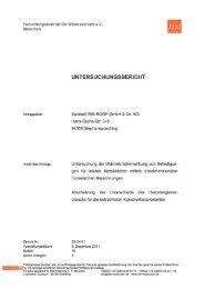 Forschungsinstitut für Wärmeschutz e.V. - Zambelli GmbH & Co. KG