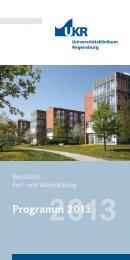Programm 2013 (pdf) - Universitätsklinikum Regensburg