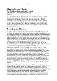 Artikel zu 25 Jahre Ökowerk downloaden... - Hartwig Berger