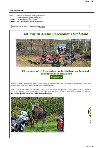 MC tur til Alebo Pensionat i Småland