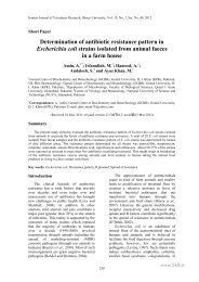 determination of antibiotic resistance pattern in escherichia coli