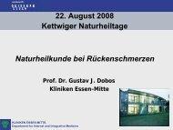 Vortrag Prof. Dr. Dobos - Natur und Medizin e.V.