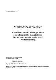 Markedsbeskrivelsen - Instituttet for Fremtidsforskning