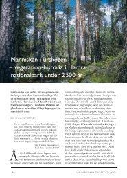 Människan i urskogen - Svenska Botaniska Föreningen