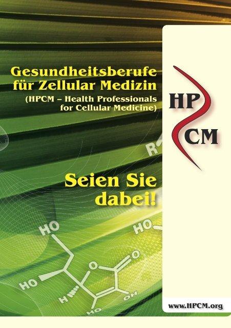 Broschüre über HPCM - Health Professionals for Cellular Medicine