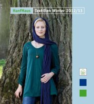 HanfHaus Textilien Winter 2012/13