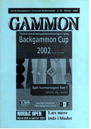 Backgammon Cup - Dansk Backgammon Forbund