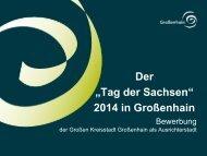 Tag der Sachsen 2014 in Großenhain - Stadt Grossenhain