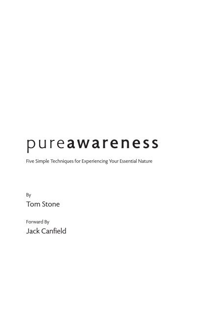 Download the e-book now. - Pure Awareness