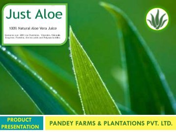 PANDEY FARMS & PLANTATIONS PVT. LTD.
