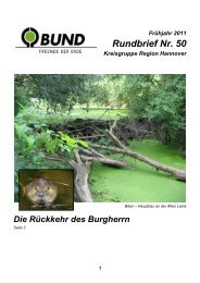 Rundbrief Nr. 50 - BUND Kreisgruppe Region Hannover