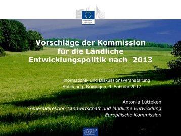 Kommissionsvorschlag ELER 2014-2020 - Was ist neu?