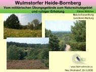 Naturentwicklung und Natur Erleben Wulmstorfer Heide-Bornberg