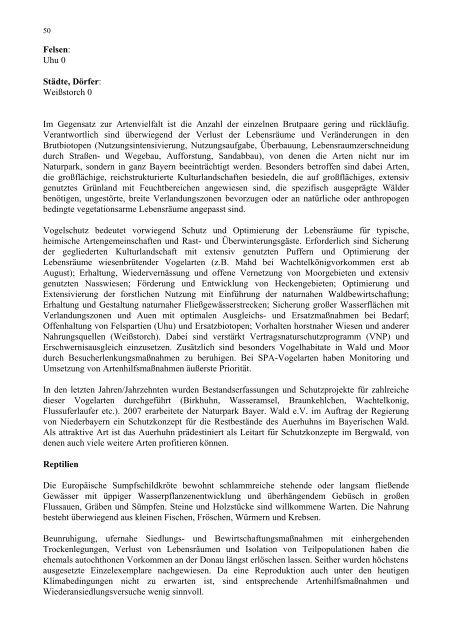 Textteil: 107 Seiten, PDF - Naturpark Bayerischer Wald