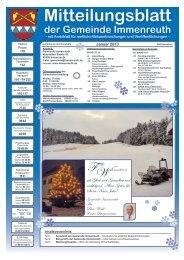 Teil 1 Mitteilungsblatt Januar 2013 - Immenreuth
