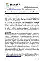 NRP-Bote 05-01 - Naturpark Thüringer Wald