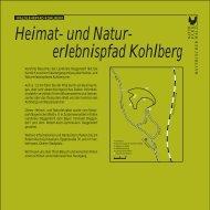 Naturlehrpfad Kohlberg - Deggendorf