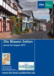 Die Blauen Seiten - VHS Kreis Euskirchen