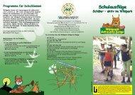 Schulausflüge Schulausflüge - Wildpark Schwarze Berge