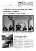 """""""Sport verbindet"""" 2004 - Europäische Akademie des Sports (eads) - Page 3"""