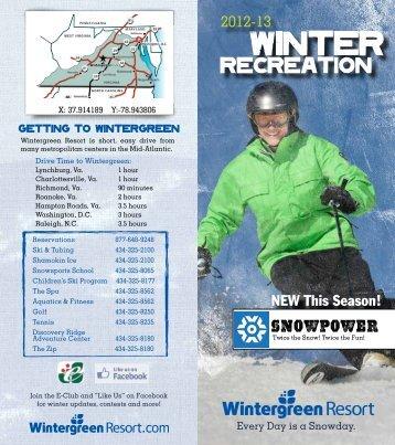 Winter Recreation Brochure - Wintergreen Resort