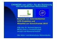 Chancen von LIFE 2010 - Naturschutz